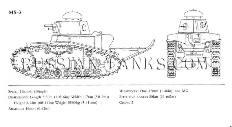 Soviet tank: Light Tank MS-3, Soviet military, the Soviet Union