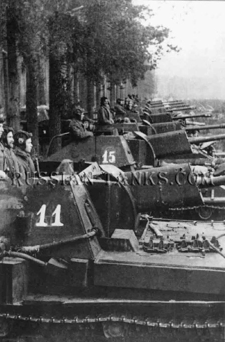 Tank operation: Tank SU-76s, the Red Army, panzer corps