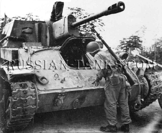Tank T-70: SU-76M Hayang in 1950, Korean War, Soviet tank