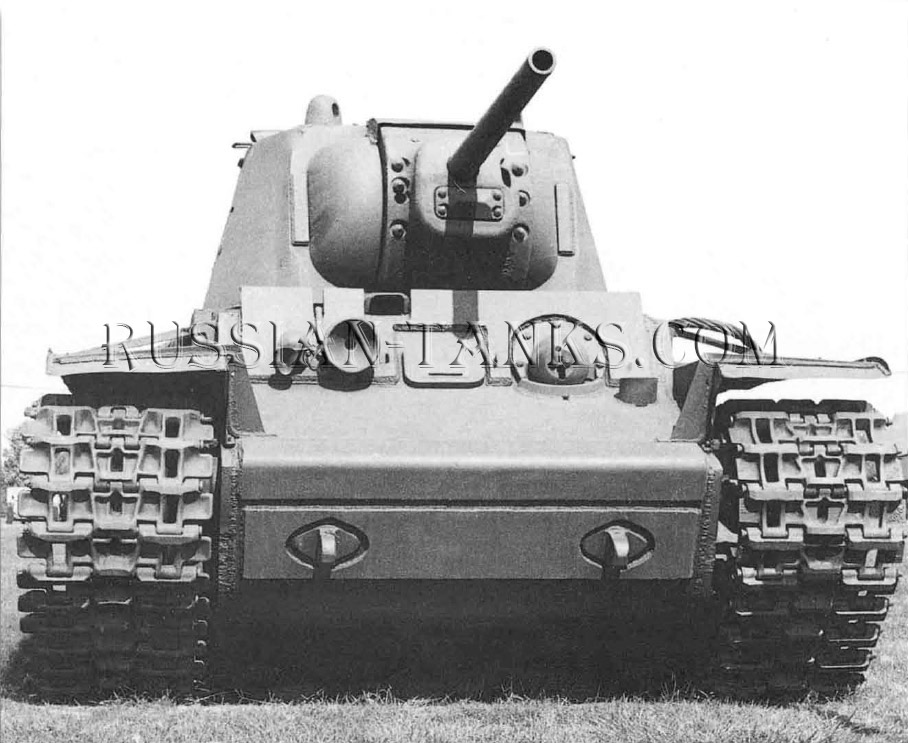 Heavy Tanks: A clear impression of the low ground-pressure of the wide tracks on the KV-1 can be seen in this picture of KV-1 at the Aberdeen Proving Ground in the USA