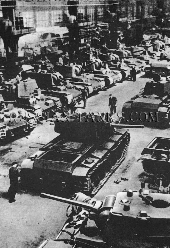 Heavy Tanks: The KV-1 production line was located at the Kirov Factory in Leningrad