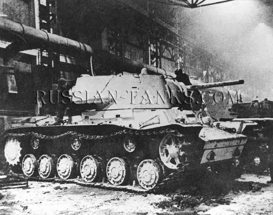 Heavy Tanks: The production line at Chelyabinsk Tractor Factory (ChTZ). When the line was set up, the design was simplified in much the same way as the T-34 programme