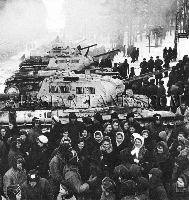 Heavy Tanks: Workers meet the crews of a KV-1B regiment