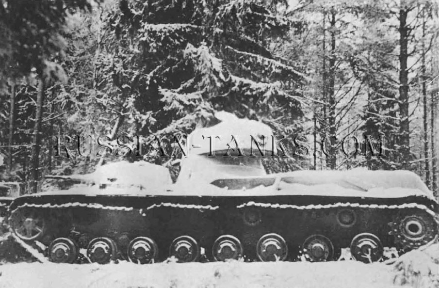 Heavy Tanks: Snow covers an SMK knocked out during the Russo-Finnish War. Tank T-35C 1940