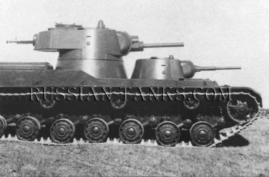 Heavy Tanks: The SMK, like the T-100, was originally designed with three turrets