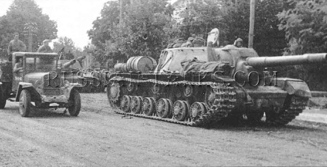 the Red Army: ISU-152 self-propelled gun