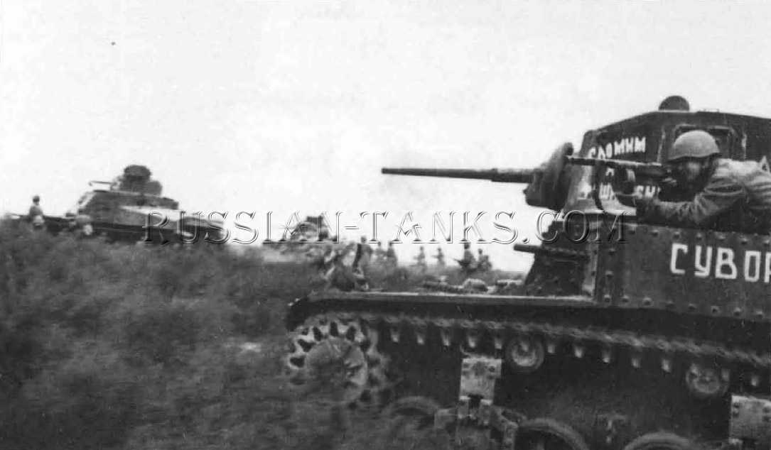 US Tank M3 Stuarts and M3 Grants