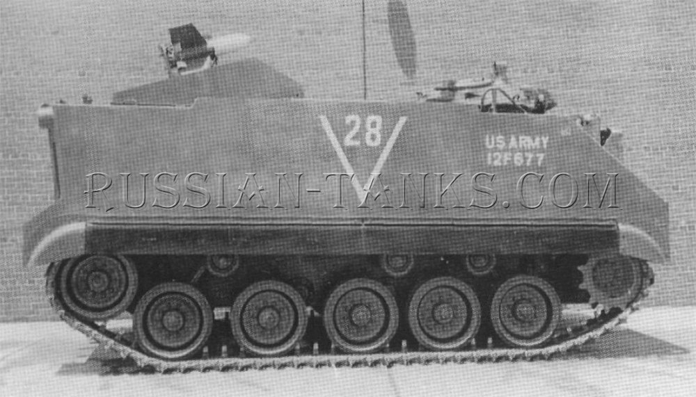 The M59 is armed with SS-10 missiles