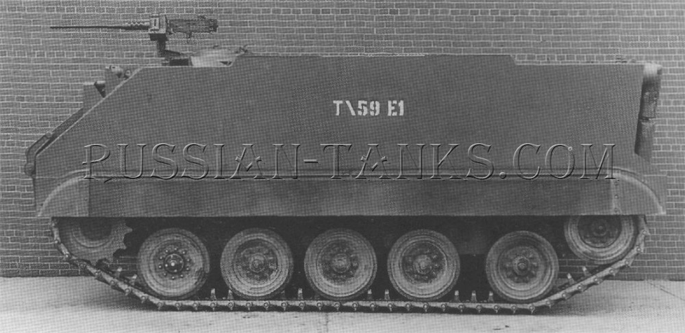 Armored infantry vehicles T59E1