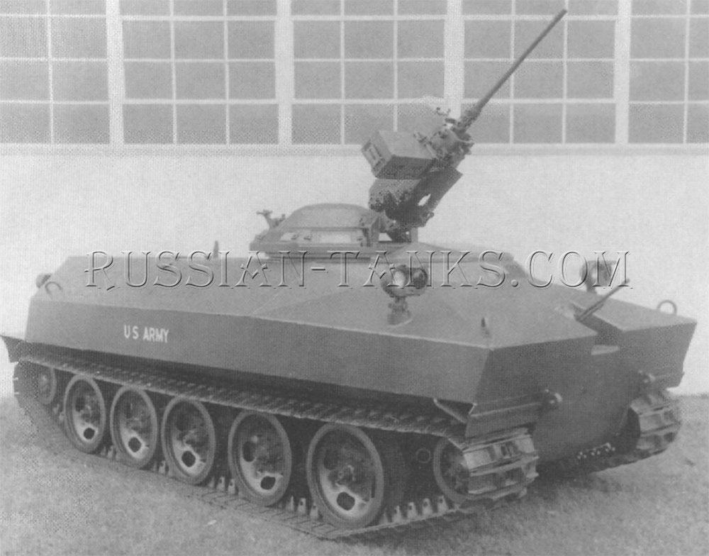 The armored carrier XM755