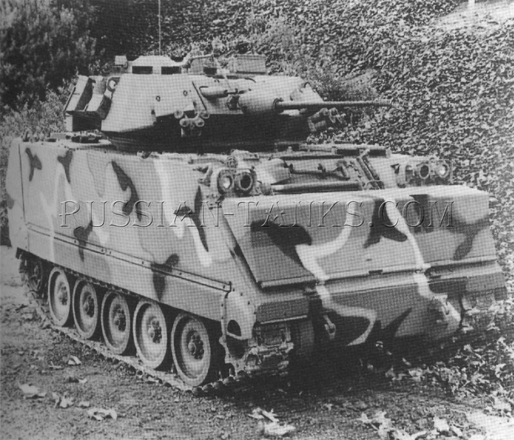 M242 with the 25mm cannon installed on the M113 series vehicle