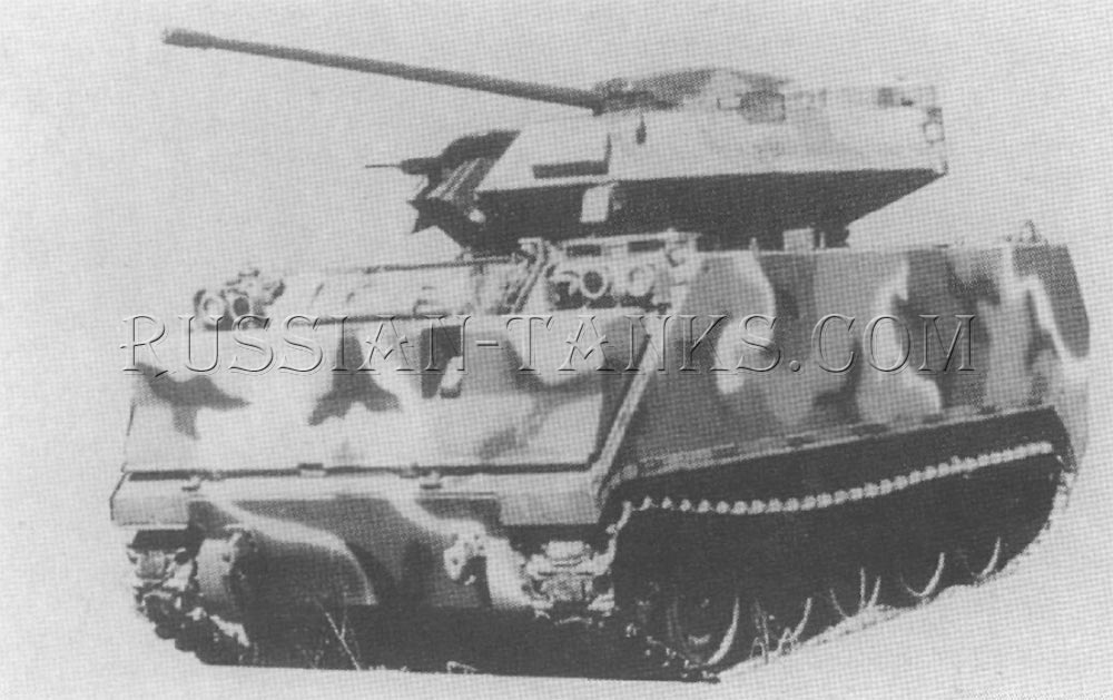 The M113 is fitted with the CVAST turret