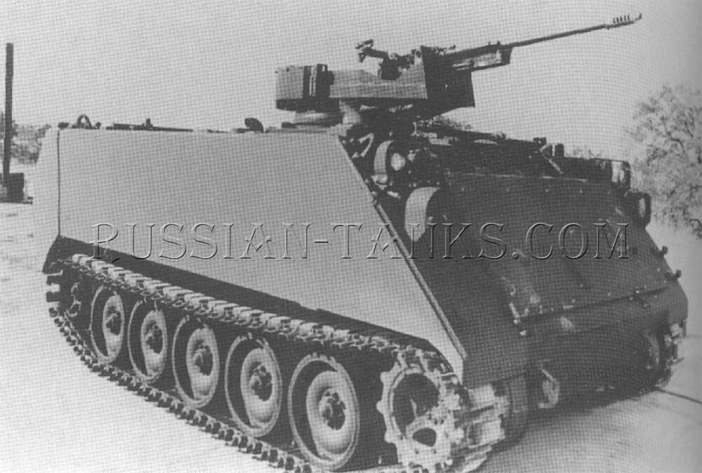 The M113 with the ASP-30 in a protected mount