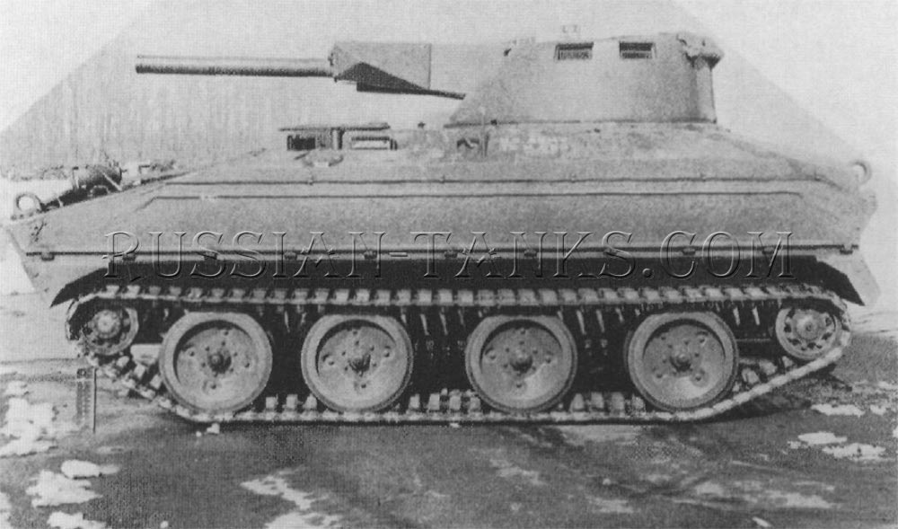 The T114 with the 106mm recoilless rifle and semiautomatic loader