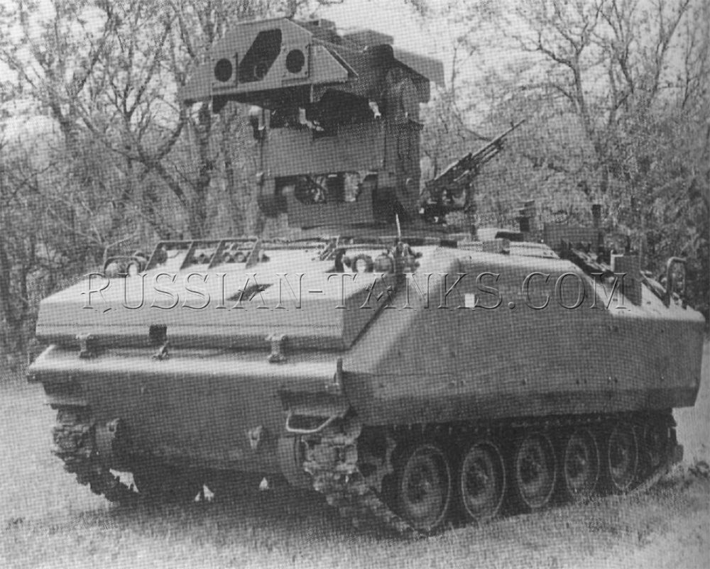 The armored infantry fighting vehicle with the TOW missile launcher