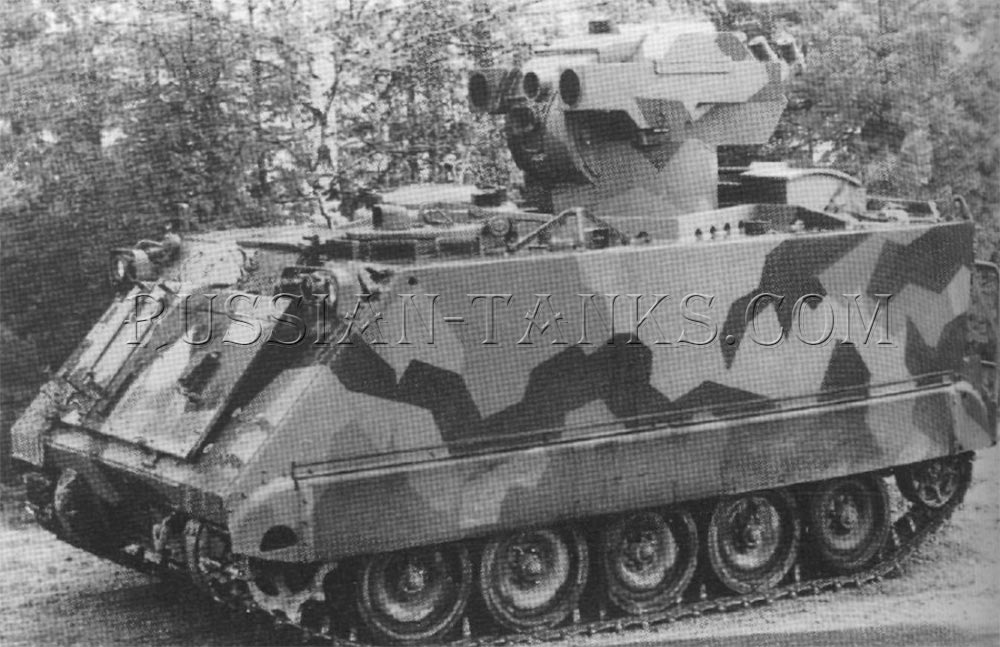 The FMC-Hughes TOW launcher the Kvaerner Eureka launcher installed on the M113 series armored personnel carrier