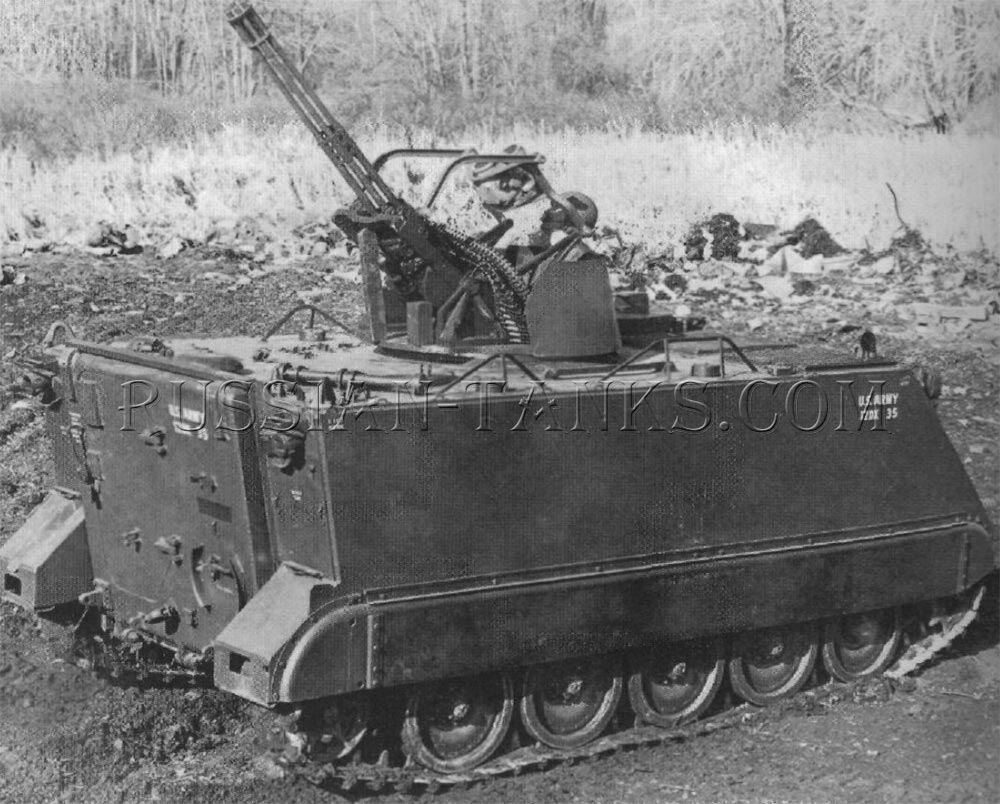 Two 20mm self-propelled antiaircraft guns XM163