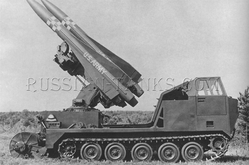 Hawk missiles on the launcher M754 on the M727 carrier