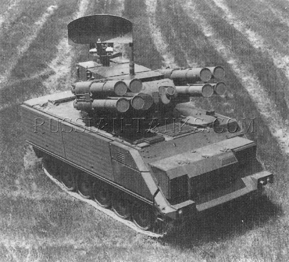 The Oerlikon-Buehrle air defense antitank system installed on the M113 series carrier