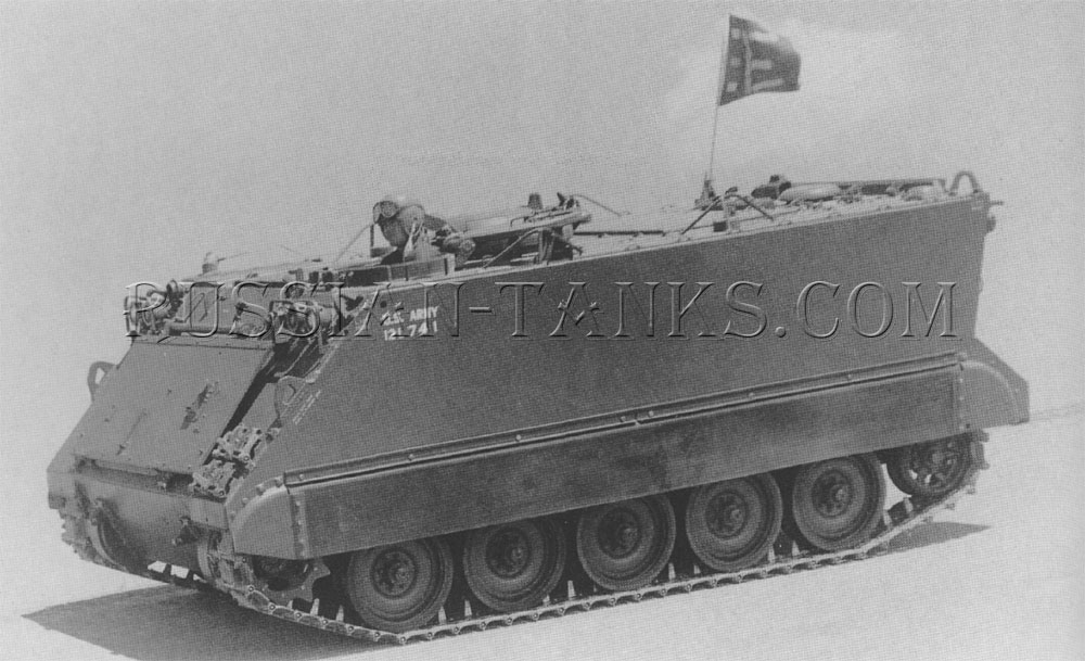 The M113 armored personnel carrier during test operations