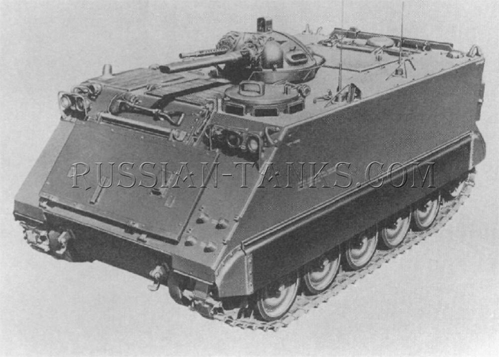 The cupola mounting the flame gun and the coaxial machine gun can be clearly seen on  the self-propelled flame thrower M132