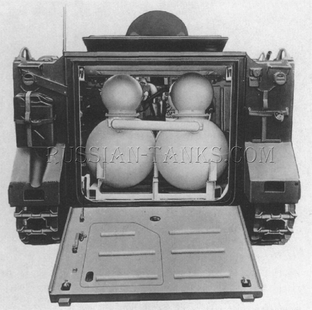 The open rear of the M132