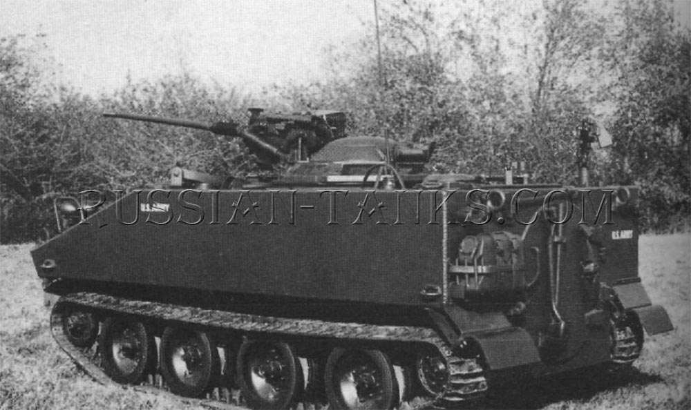 The command and reconnaissance vehicle armed with the 20mm gun M139