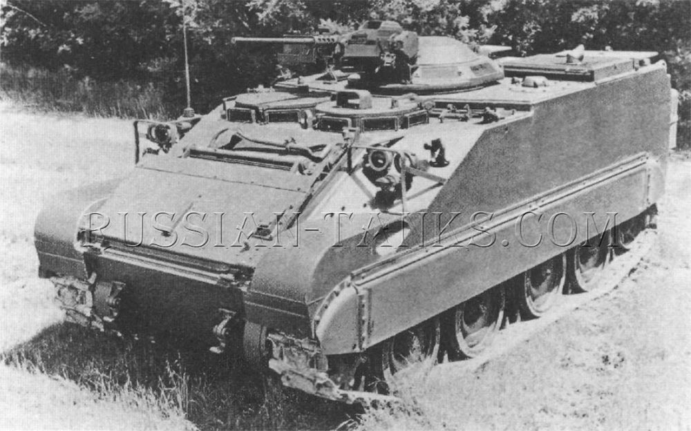 The command and reconnaissance vehicle fitted with the XM26 cupola armed with the .50 caliber machine gun