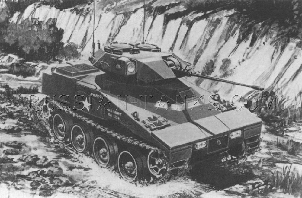 The armored reconnaissance vehicle tracked XM800T