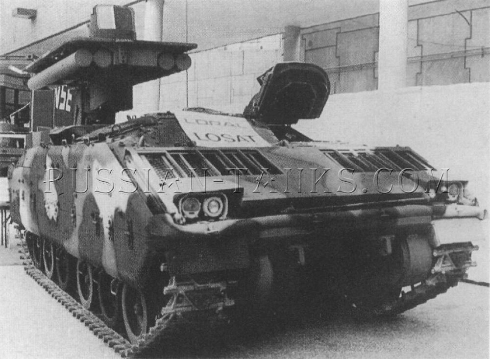 Antitank weapon system (LOSAT) on the Bradley chassis