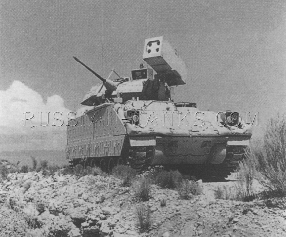 The Bradley Linebacker armed with the four tube Stinger launcher replacing the TOW missile system