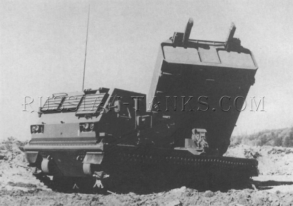 The Boeing multiple launch rocket system (MLRS) prototype