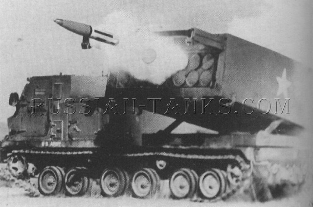 The MLRS launching the 227mm M26 rocket