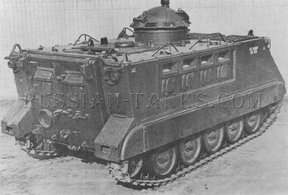 The armored personnel carrier XM734