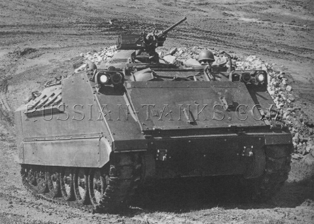 The modified XM765 infantry fighting vehicle
