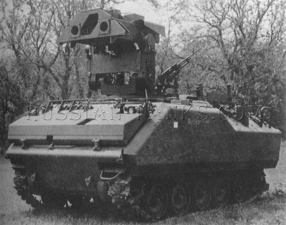 The antitank vehicle mounting the Emerson Electric type launcher