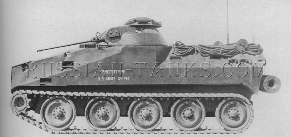 The prototype XM701 mechanized infantry combat vehicle armed with the 20mm gun M139
