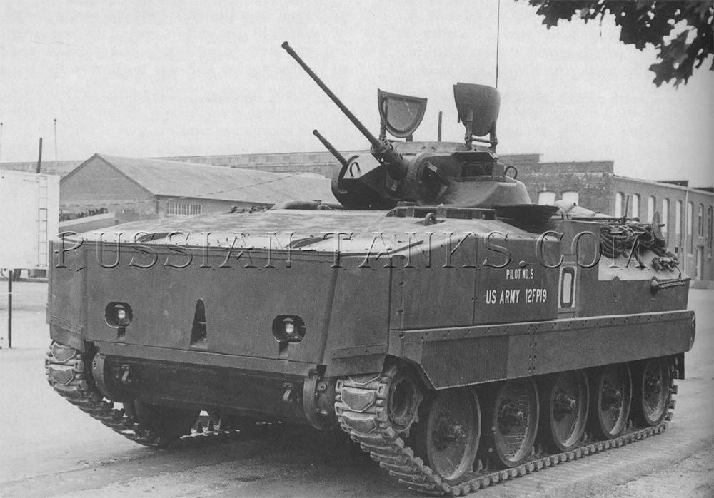 The prototype XM701 mechanized infantry combat vehicle