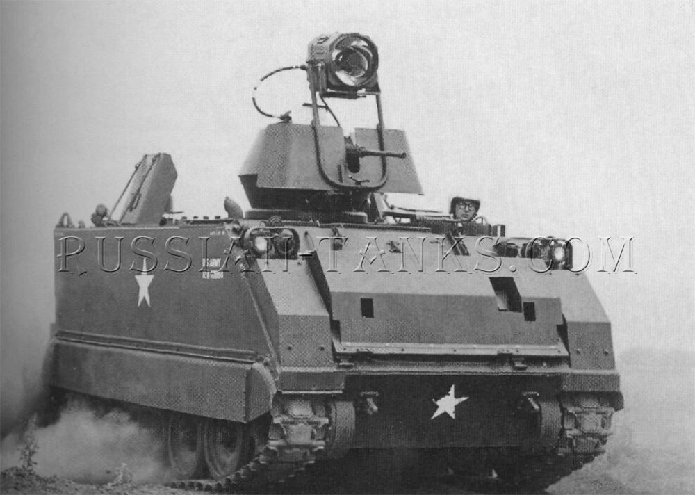 The armored personnel carrier M113A1 with ACAV configuration
