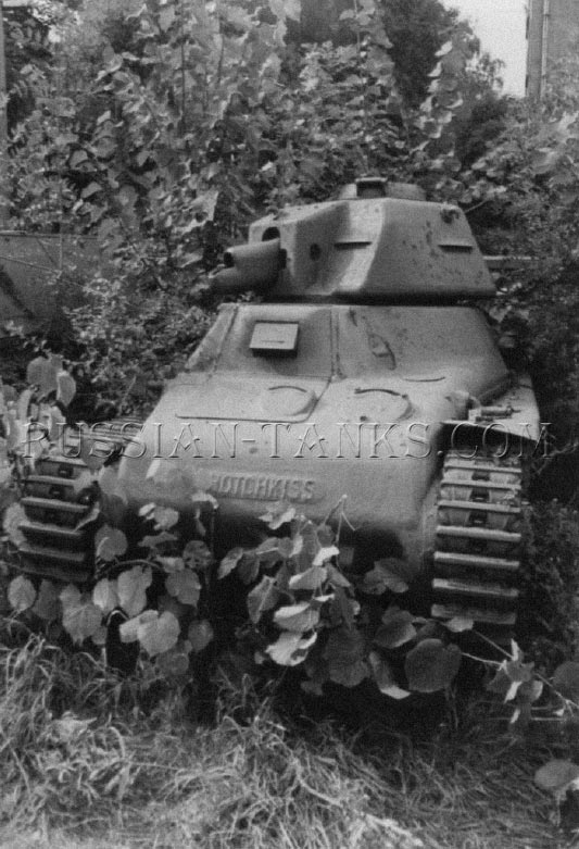 Hotchkiss H-35 French army light tank