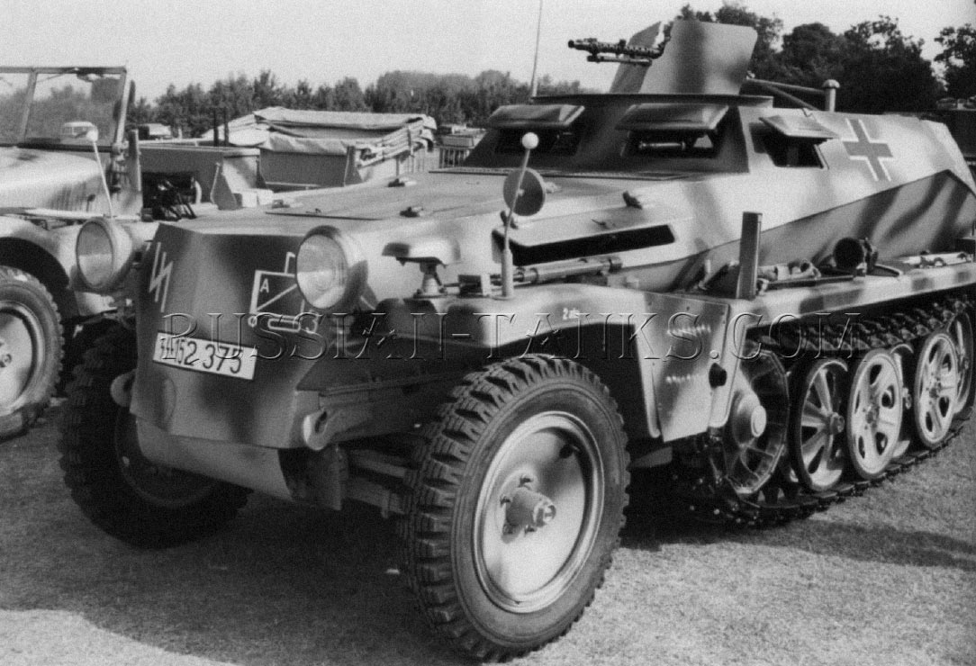 German military Sd.Kfz 250 armored half-track
