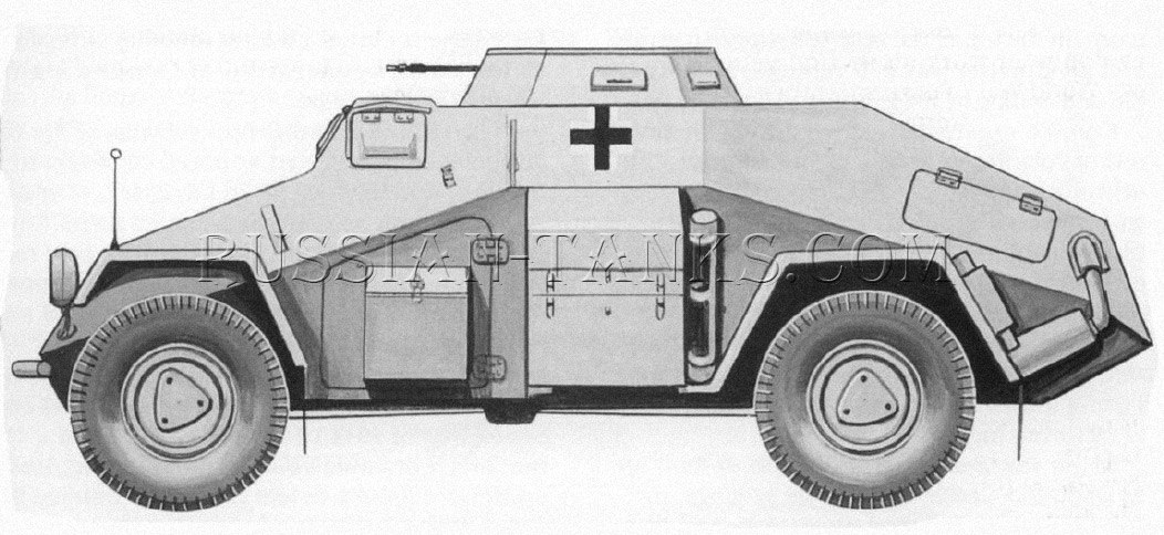 German military four-wheeled Sd.Kfz 221 armored car