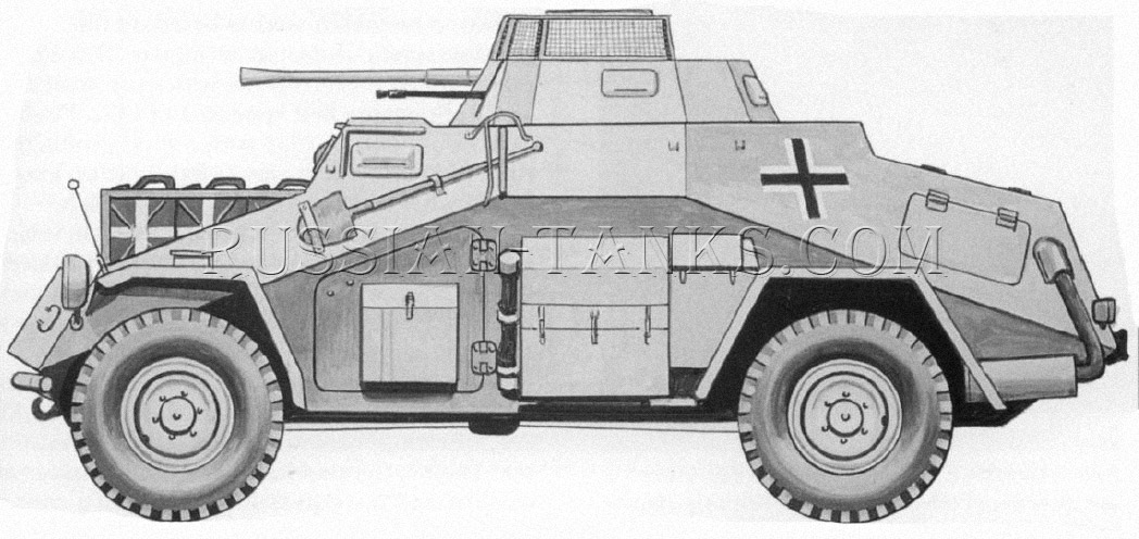 German military Sd.Kfz 222 armored car